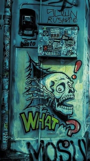 Street art iPhone HD Wallpaper
