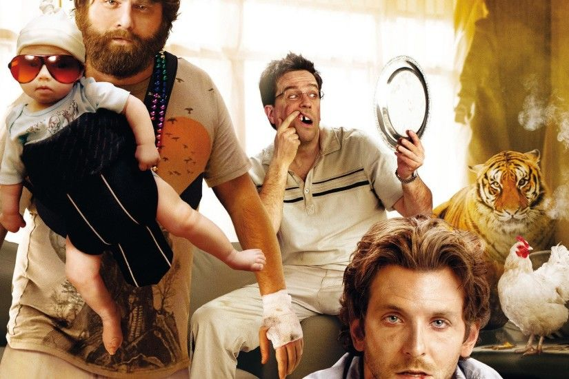 Movie - The Hangover Bradley Cooper Zach Galifianakis Ed Helms Wallpaper