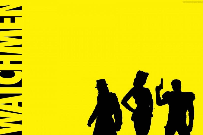 Comics - Watchmen The Comedian (Watchmen) Silk Spectre Rorschach Wallpaper