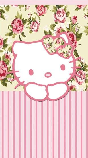 hello kitty, floral, and flowers image