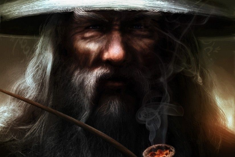 fantasy Art, Gandalf, Pipes, Wizard, The Lord Of The Rings, Beards