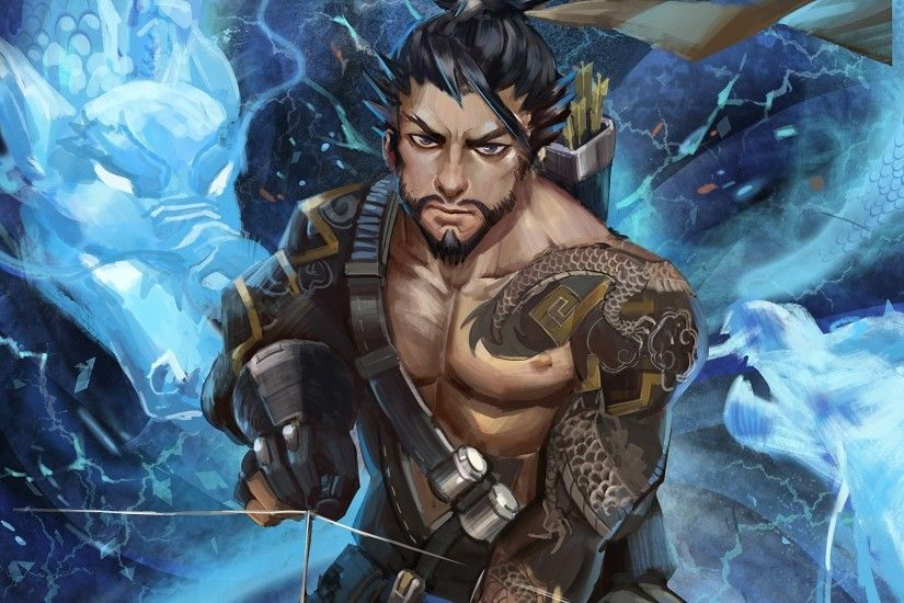 Overwatch Hanzo Dragon 1080p HD Wallpaper Background
