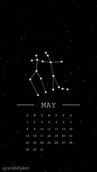 Gemini horoscope constellation may 2016 calendar wallpaper free download  for iPhone android or desktop background on