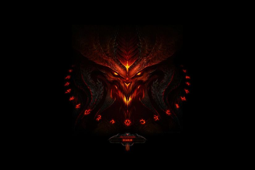 Diablo 3 logo dark wallpaper from Diablo 3 wallpapers