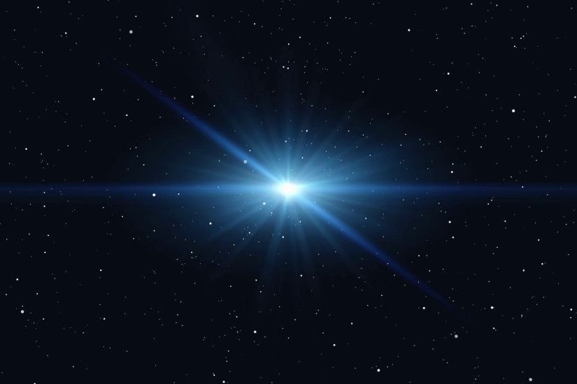 Bright star shining and dark space with stars. Motion Background -  VideoBlocks