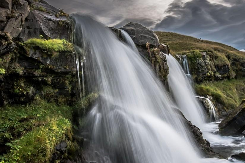 Preview wallpaper iceland, waterfall, nature 2048x2048