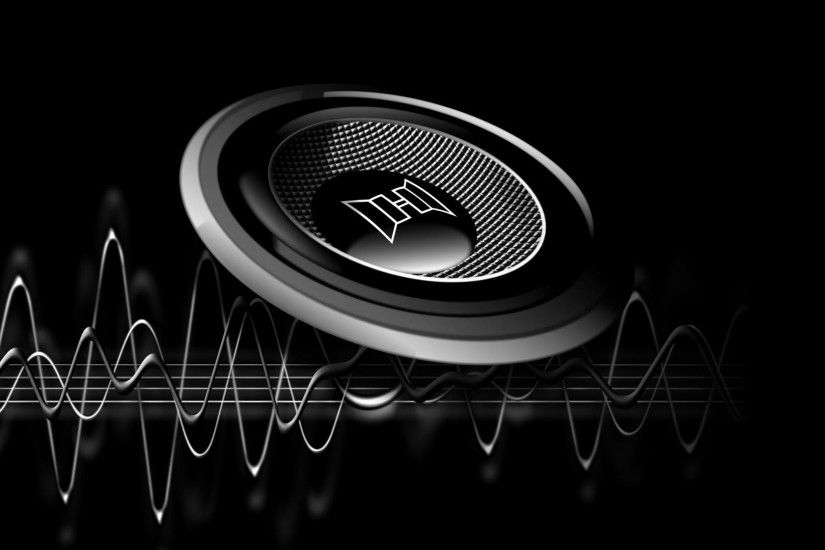 hd abstract wallpapers, music, view, abstract, speakerd, black, and,  vector, cg, view, art Wallpaper HD