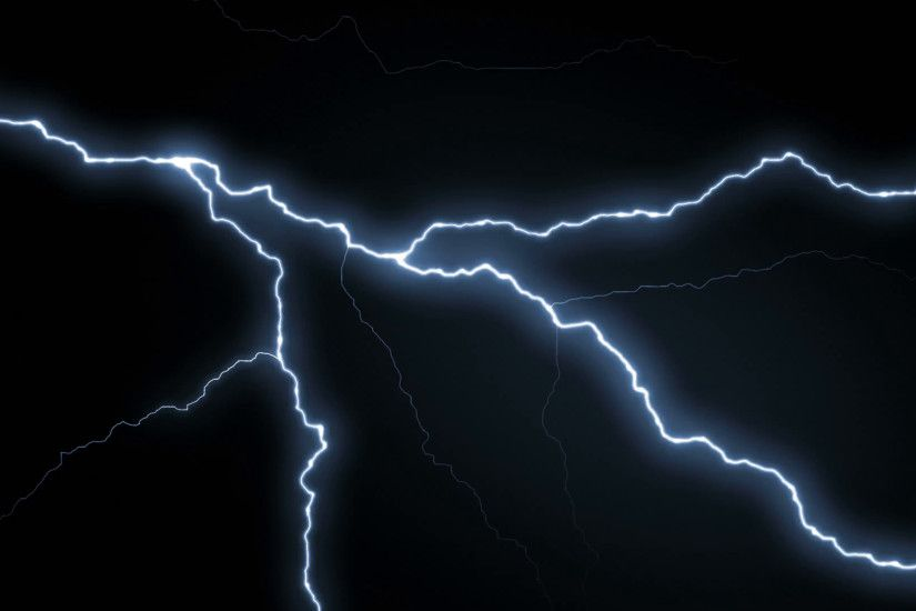 Lightning strikes over black background REALISTIC Motion Background -  VideoBlocks