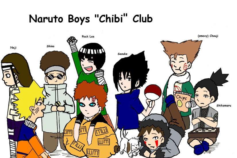 Naruto boys Chibi club by Aquaartist Naruto boys Chibi club by Aquaartist