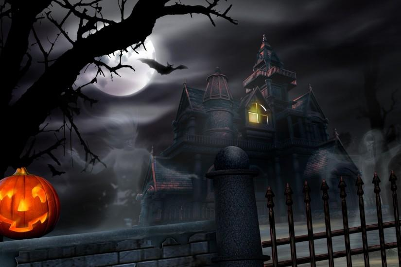 Web Collection; PJO967 Halloween Haunted House, Wall.