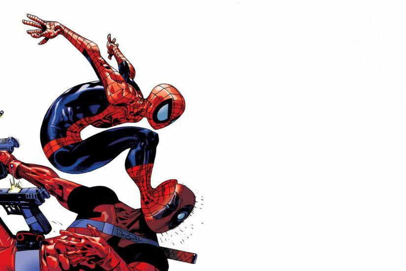 Spiderman Cartoon Wallpaper ·① Deadpool Vs Spiderman Wallpaper 1920x1080