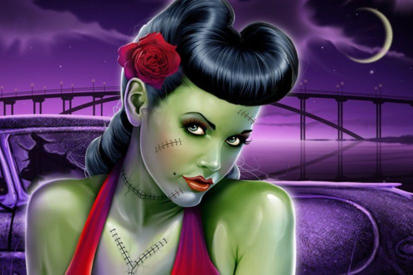Zombie Pin Up Wallpaper | images of tattooed pin up zombie .