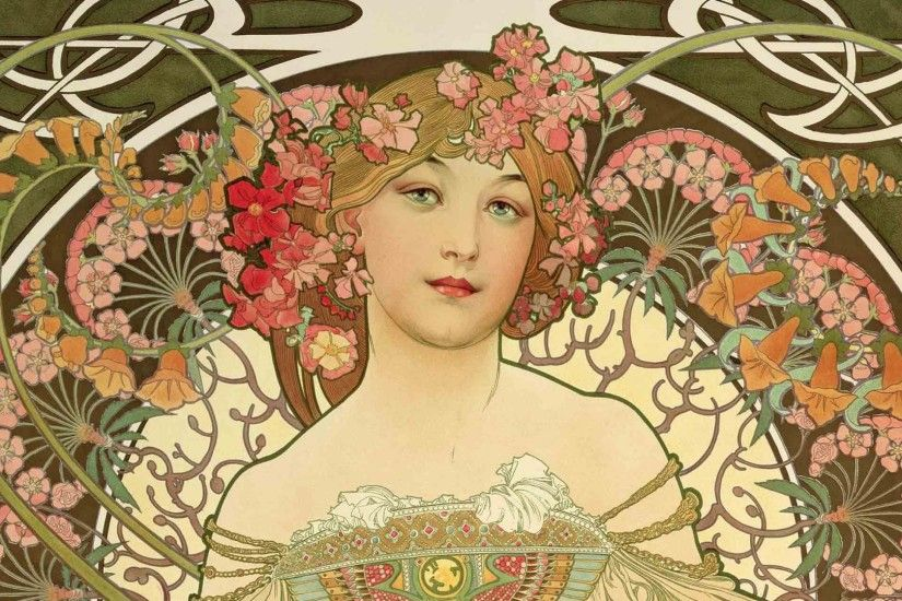 Alphonse Mucha Full HD Wallpaper Wallpaper Desktop Images Background Photos  Download Free Windows Wallpaper Samsung Mac 1920x1080