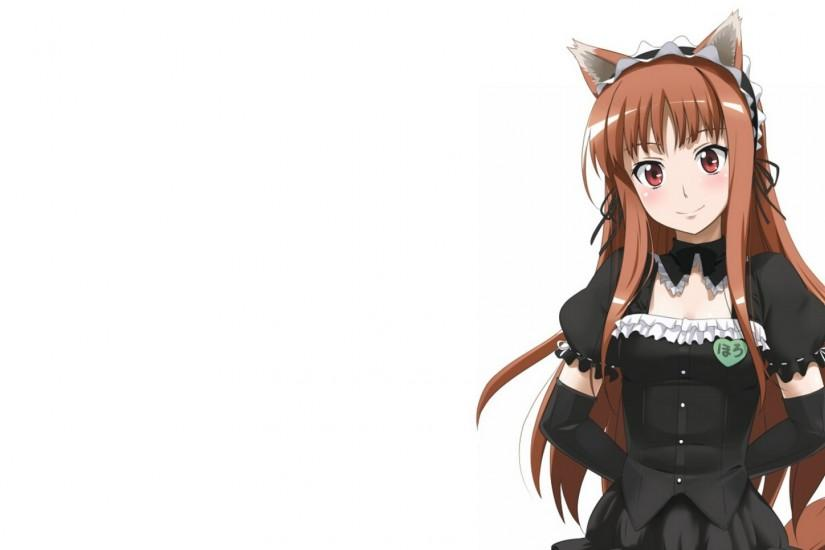 Preview wallpaper spice and wolf, girl, anime, dress, ears 1920x1080