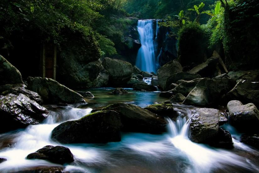 Relaxing Waterfall 1920x1200 wallpaper