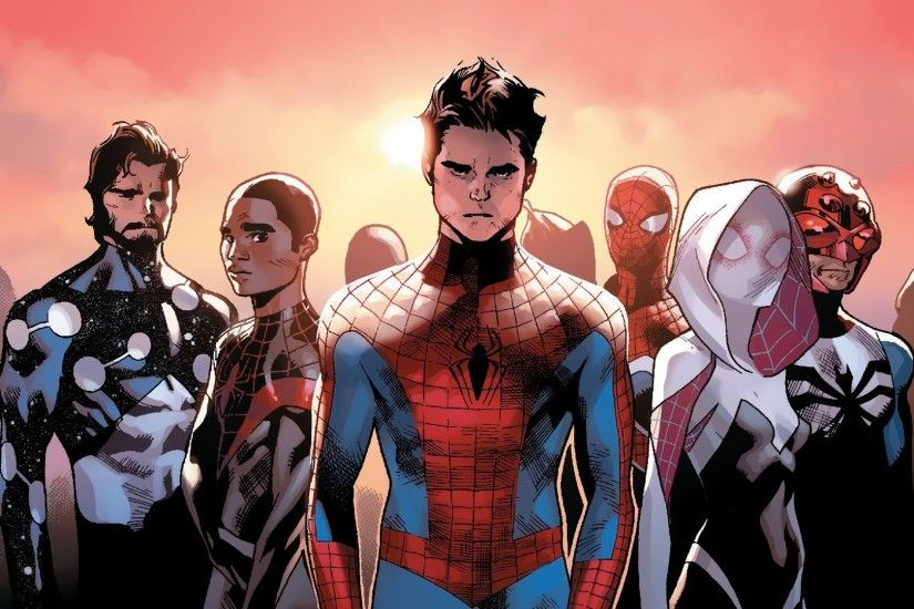 comic Books, Marvel Comics, Spider Man, Spider Gwen, Miles Morales  Wallpapers HD / Desktop and Mobile Backgrounds