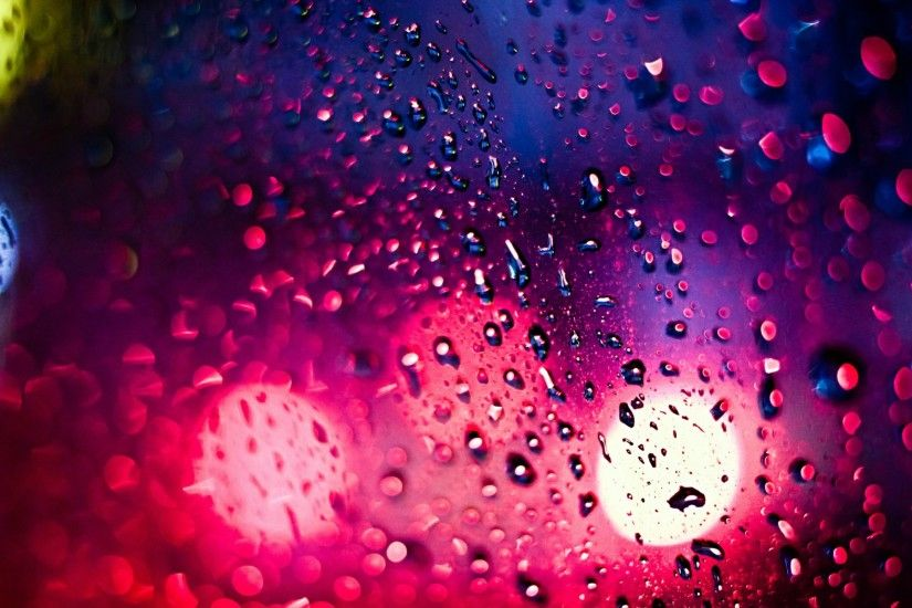 Bokeh drops rain lights window glass water color wet wallpaper | 1920x1200  | 38083 | WallpaperUP