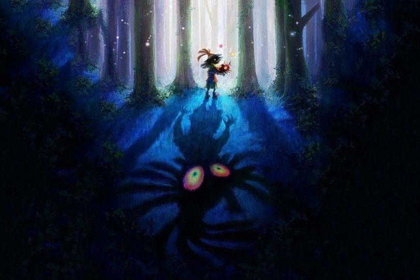 cool majora's mask zelda wallpaper skull kid