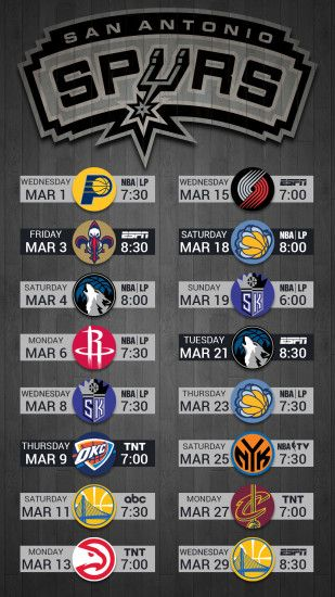 March 2017 Mobile Schedule Wallpaper