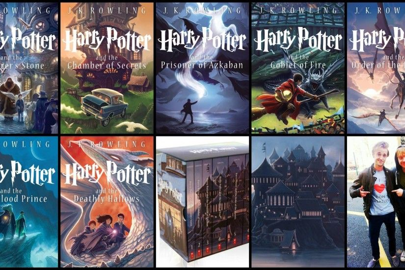 Wallpaper made from the new book covers! : harrypotter