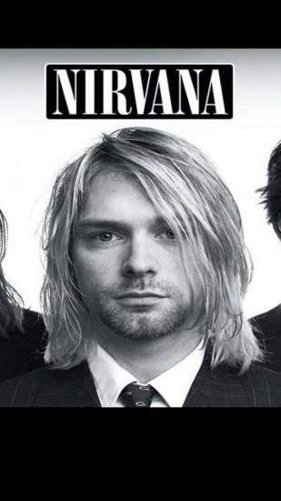 Preview wallpaper nirvana, band, members, suits, look 1080x1920