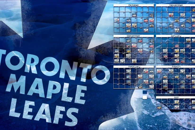 2014-2015 Toronto Maple Leafs schedule wallpaper by bbboz on .
