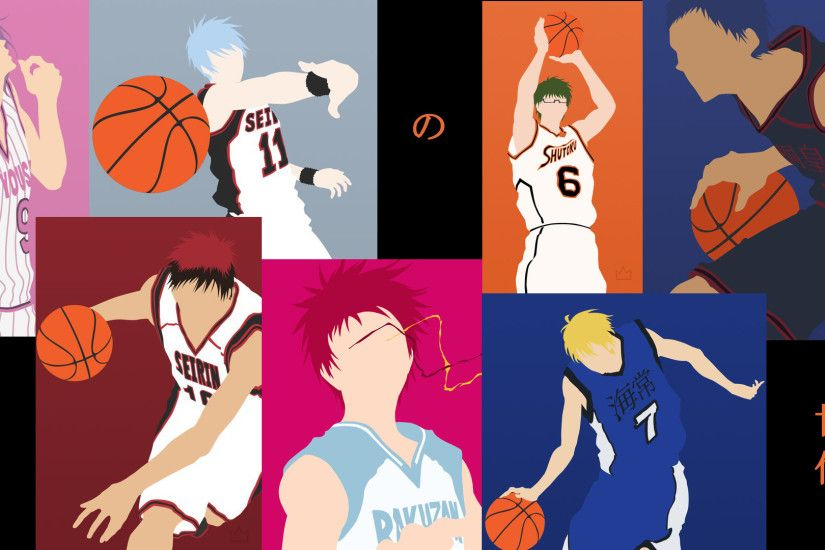 "Made a ""Generation of Miracles"" vector collage wallpaper from Kuroko no  Basket"