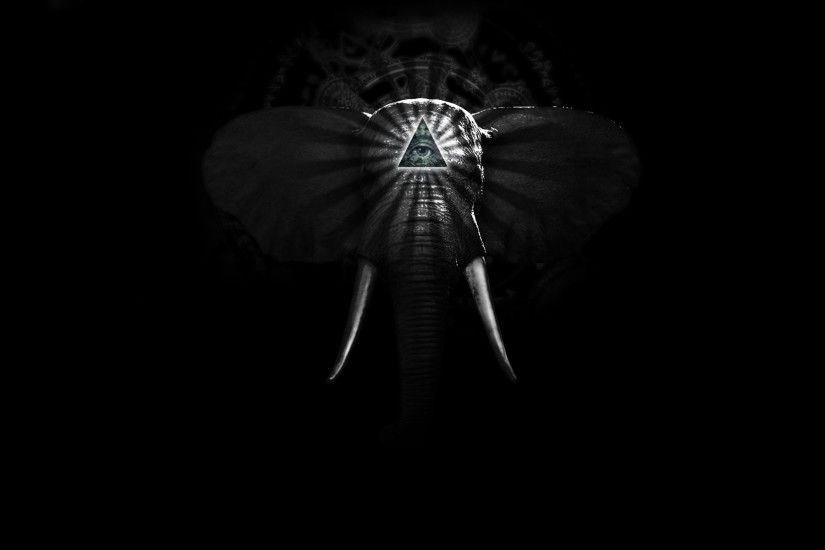 ... Free Elephant Black And White Wallpapers Â« Long Wallpapers ...