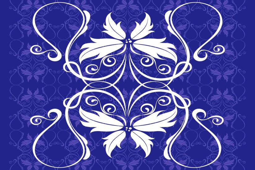 Blue Vector Floral Pattern Background CDR File in CorelDraw