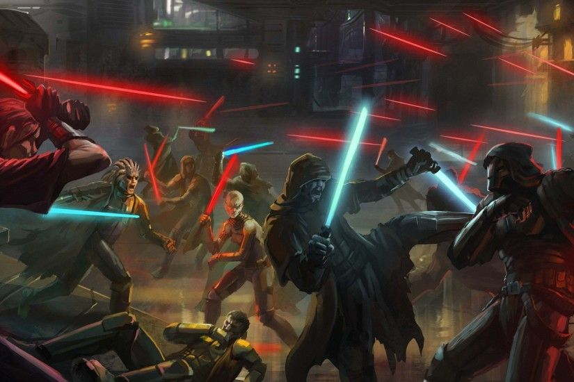 cool fantasy star wars battle
