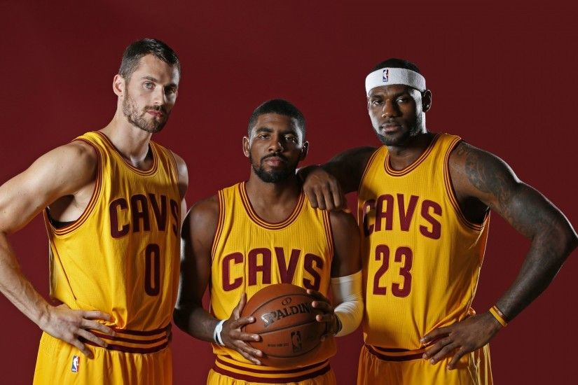 Preview wallpaper cleveland cavaliers, kyrie irving, kevin love, anderson  varejao 1920x1080