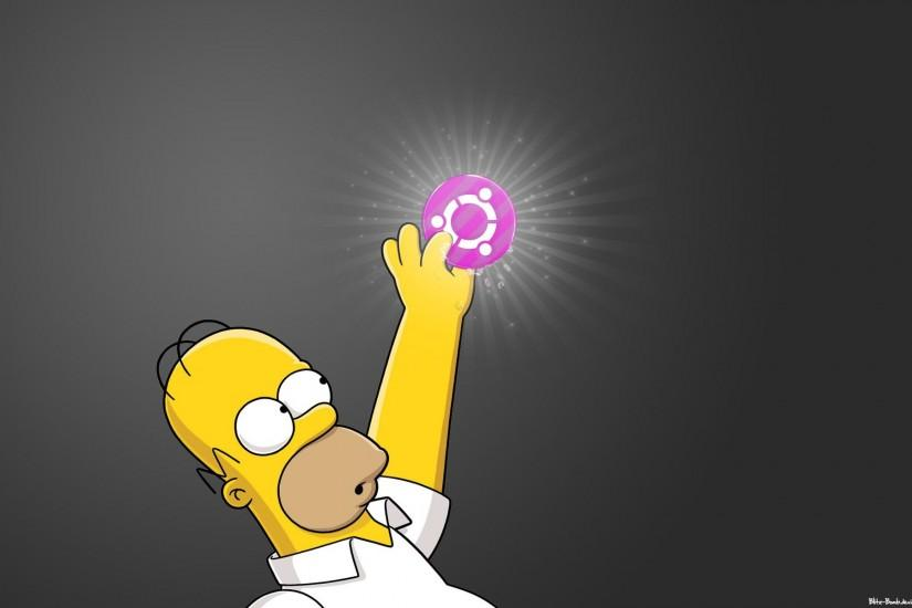Linux ubuntu homer simpson desktop 1920x1200 hd wallpaper - 1525669