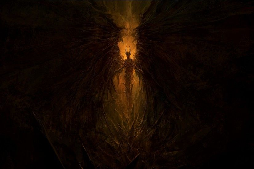 Demon, Wings, Satan, Lucifer, Hell, Artwork