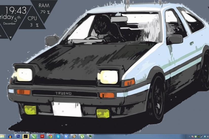 I changed things around. and made my self a new background based on initial  D. I cut the second screen off as nothing is on it still.