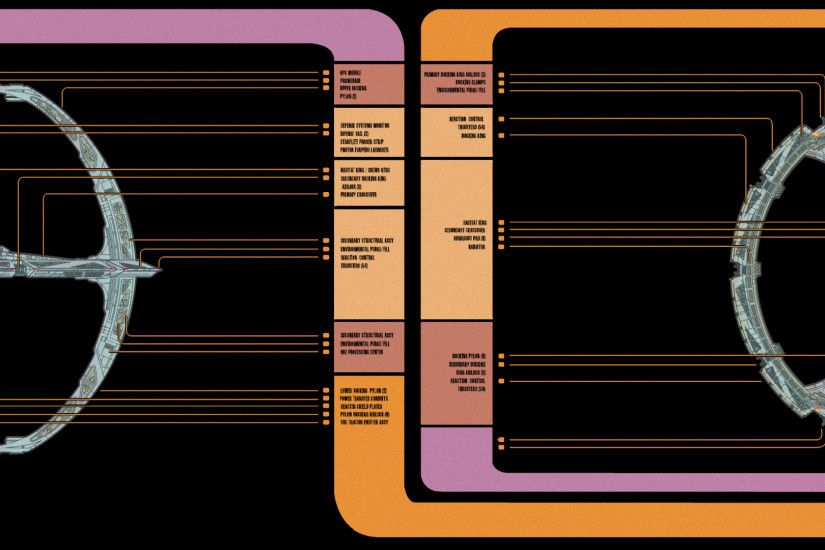 Star Trek DS9 MSD dual-screen wallpaper