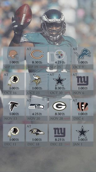 Eagles Schedule Mobile Wallpaper (2016) ...