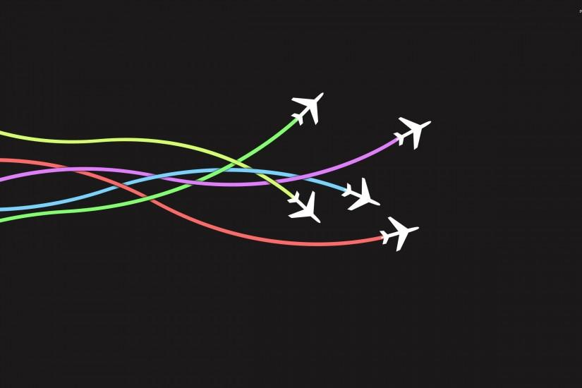 Airplanes wallpaper - Minimalistic wallpapers - #634