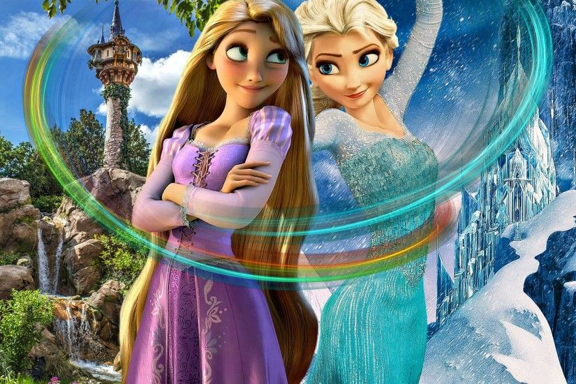muIans images Rapunzel And Elsa HD wallpaper and background photos