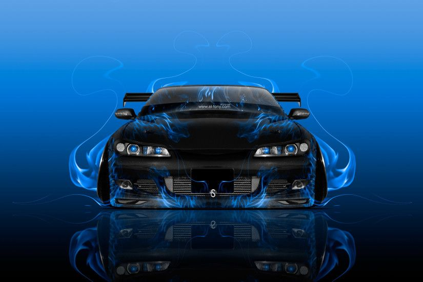... Nissan-Silvia-S15-JDM-Tuning-Front-Fire-Flame- ...