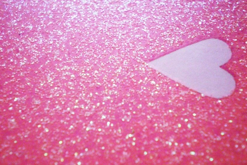 Glitter Pink Heart HD Wallpaper