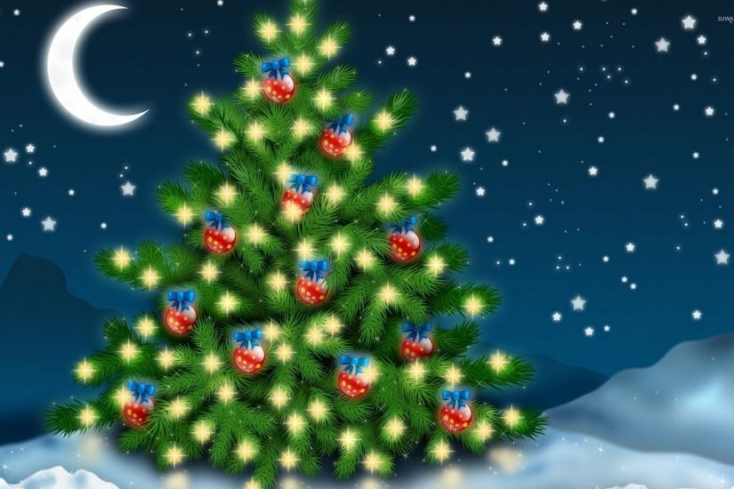 free christmas tree wallpaper 1920x1200