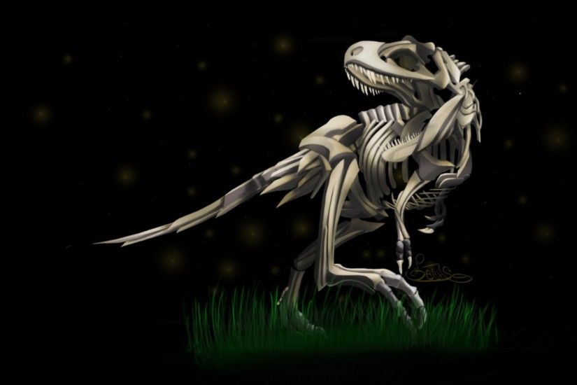 Dinosaurs Skeletons Tyrannosaurus Rex Wallpaper At Dark Wallpapers