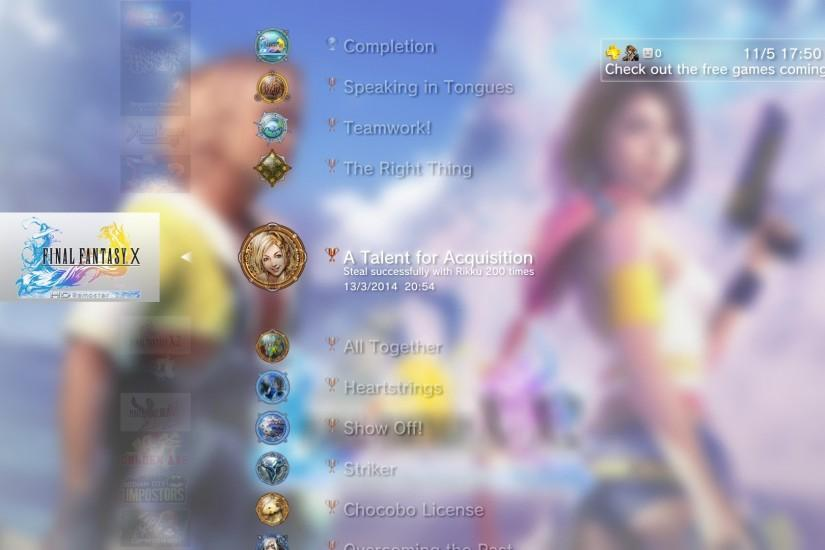 List of Final Fantasy X HD Remaster trophies | Final Fantasy Wiki | Fandom  powered by Wikia