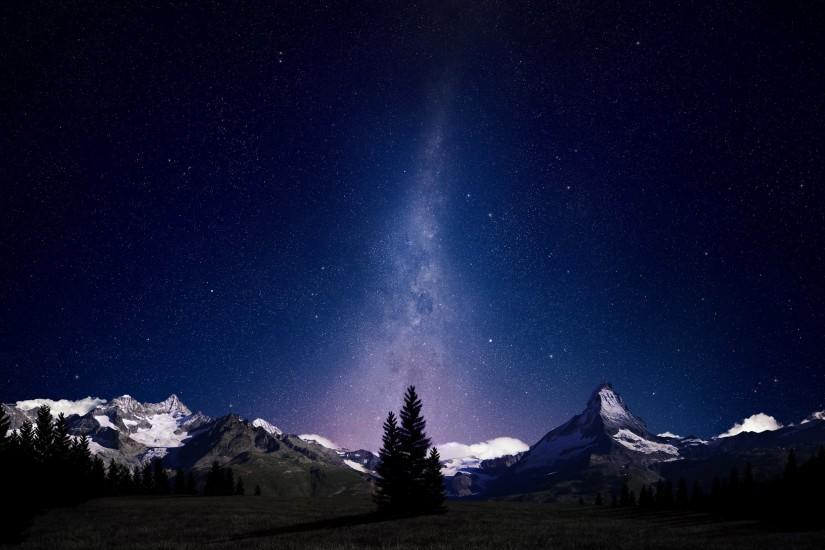 free night sky wallpaper 2560x1570 download