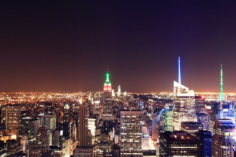 2560x1080 Wallpaper new york, city, top view