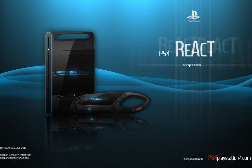 PS4 Concept React HD Wallpaper High Definition Wallpaper, Widescreen  Wallpapers