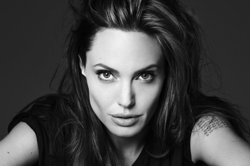 Preview wallpaper angelina jolie, actress, look, tattoo 1920x1080