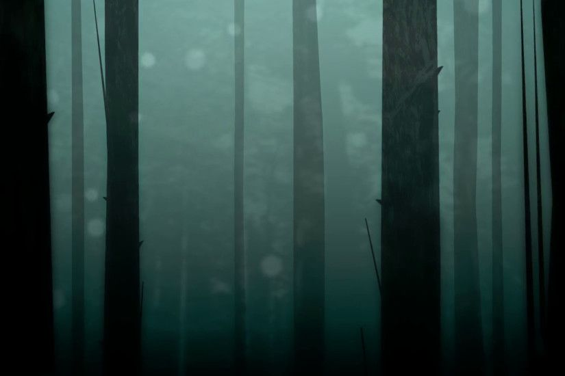 Dynamic graphic animation using paper cutout styled elements to illustrate  a spooky or enchanted forest. High definition 1080p and loop-ready.