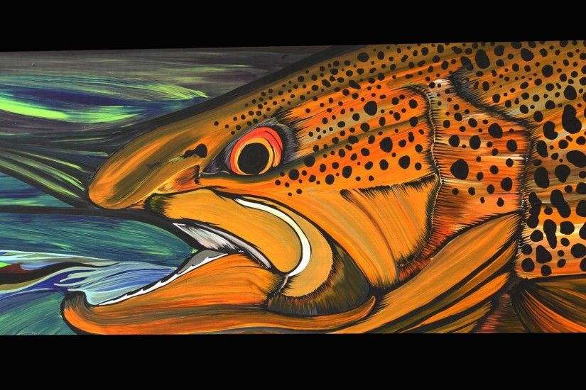 Bass Tag - Fishes Trout Fish Fishing Bass Sport Artwork Painting Wallpaper  Picture for HD 16