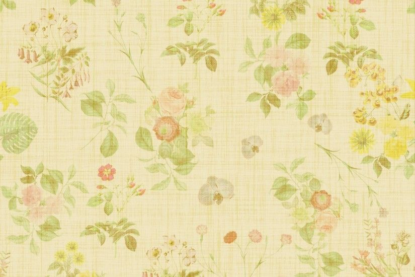 Floral Wallpaper Vintage Background